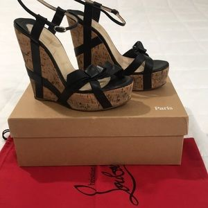 Authentic and Beautiful Christian Louboutin wedges